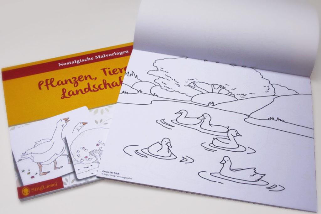 Nostalgische Malvorlagen für Senioren - Studio Vieleck